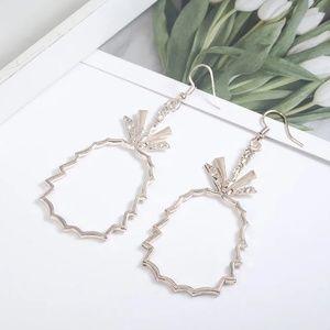 Rose gold 🍍pineapple earrings